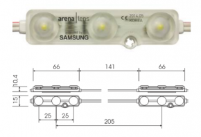50stk. LED Modul neutralweiss 4000k Samsung Chip IP68